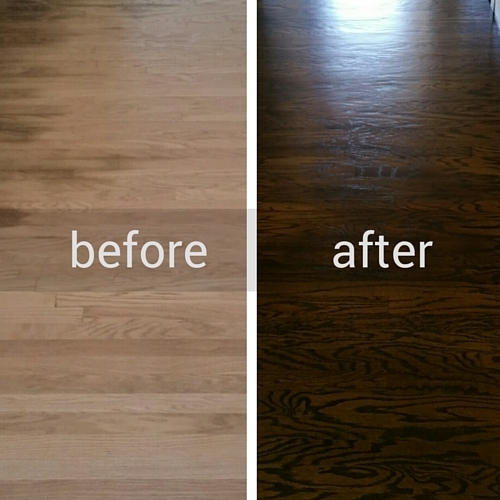 Newgen Restores Wood Floor Before and After
