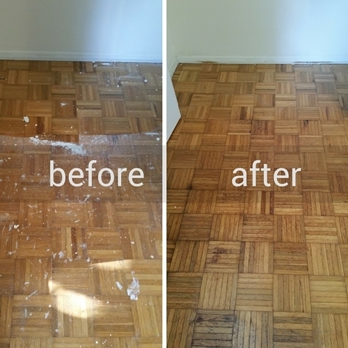 Paint Splattered Floors