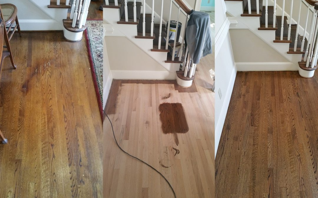 Sanded & Re-Stained Wood Floors